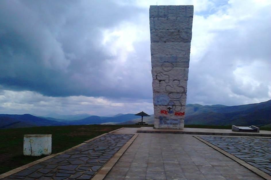 Spomenik na vrhu Zlatibora